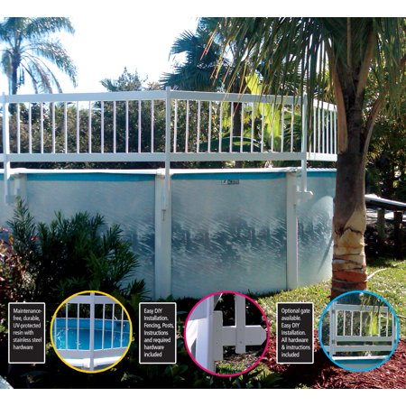 Water Warden Above Ground pool safety fence (add on kit C 2 Sections)