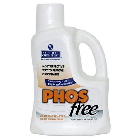 Natural Chemistry 05121 Swimming Pool Spa PHOSfree Phosphate Remover - 3 Liters