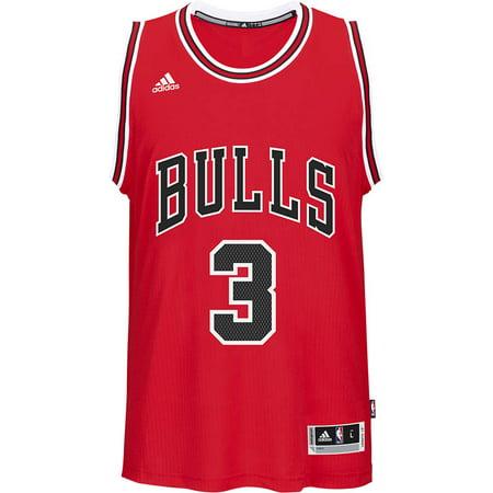Chicago Bulls Adidas NBA Doug McDermott #3 Road Swingman Jersey. (Red) by