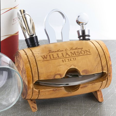 Custom Couples Barrel 4 Piece Wine Tool Set