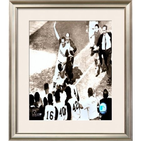 Bill Mazeroski - 1960 World Series Winning Home Run Framed Photographic Print Wall Art