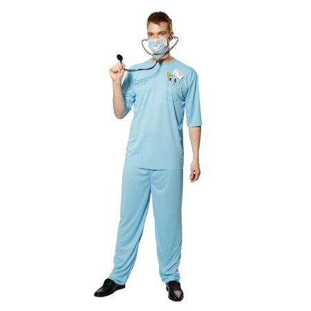 Doctor Scrubs Set Hospital Costume Cosplay Halloween Uniform - Halloween Hospital Scene