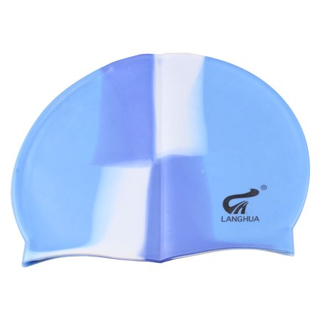 3aec29ebbd26 Unique Bargains Silicone Elastic Swimming Hat Keep Hair Dry Ear