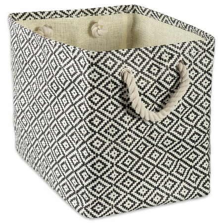 Design Imports Paper Bin Geo Diamond Black Rectangle Small, 11