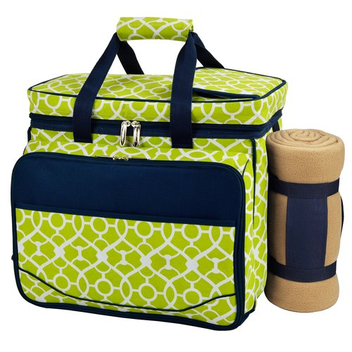 "Picnic at Ascot Deluxe Picnic Cooler with Blanket for 4  12.5"" x 19.5""x 10.5"""