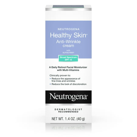 - Neutrogena Healthy Skin Retinol & Anti Wrinkle Face Cream with SPF 15, 1.4 oz