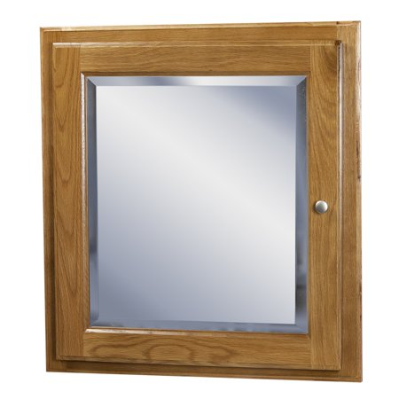 Ghi Wall Mounted Oak Medicine Cabinet With Mirror