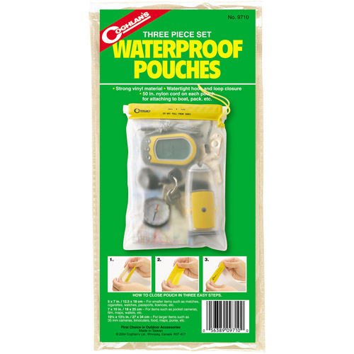 Coghlan's 9710 3 Piece Waterproof Pouches