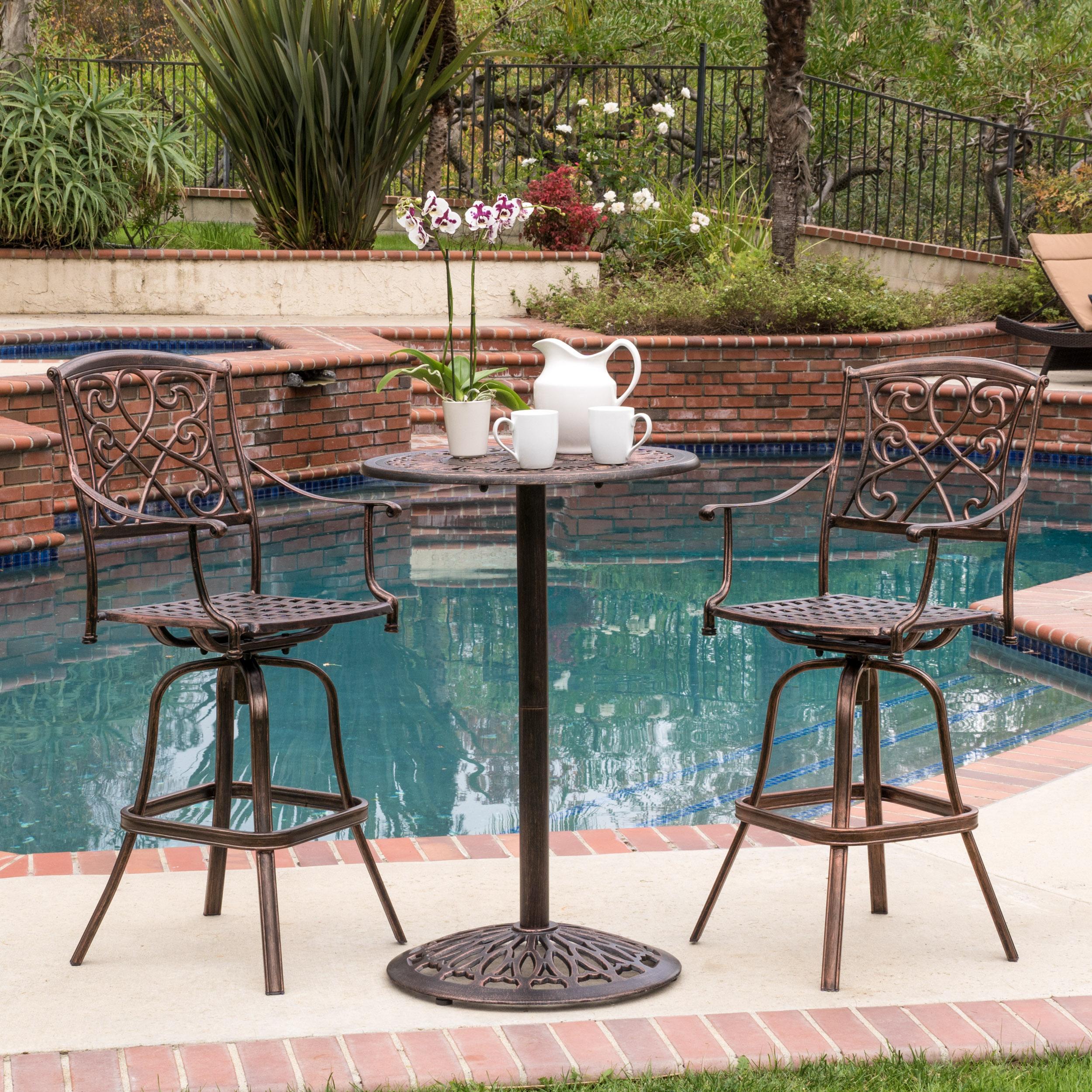 Royce Shiny Copper Cast Bar Table