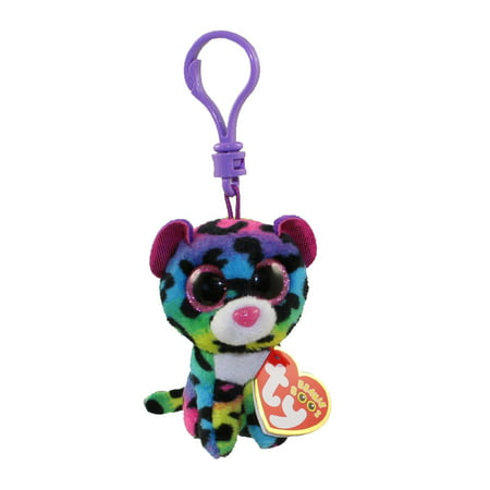 Beanie Boos Amazon (TY Beanie Boos - DOTTY the Rainbow Leopard (Glitter Eyes) (Plastic Key Clip - 3)
