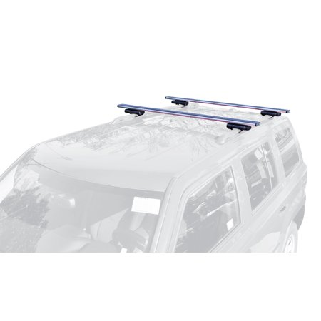 Image of Allen Sports 53 in. Locking Aluminum Roof Bars For Vehicles with Raised Factory Roof Rails