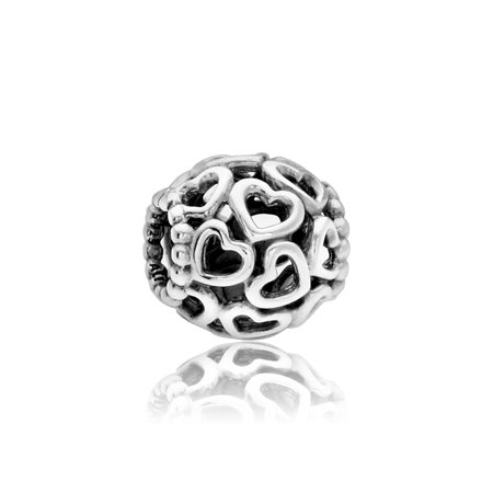 2d2953714 PANDORA - Authentic Open Heart Charm in 925 Sterling Silver, 790964 -  Walmart.com