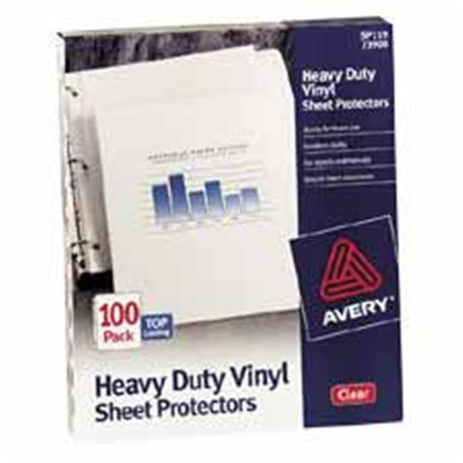 Avery Top-Load Vinyl Sheet Protectors, Heavy Gauge, Letter, Clear, 100/Box