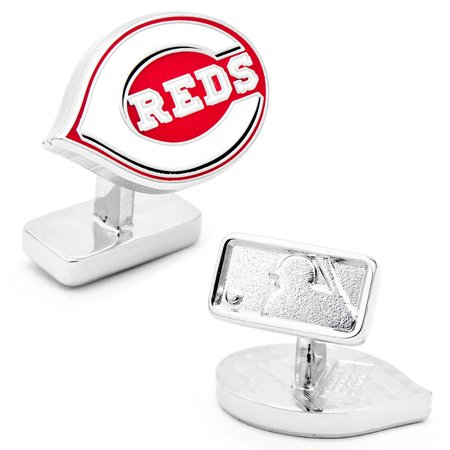 MLB Mens Palladium Cincinnati Reds Cufflinks with Gift Box PD-RED-PP New by
