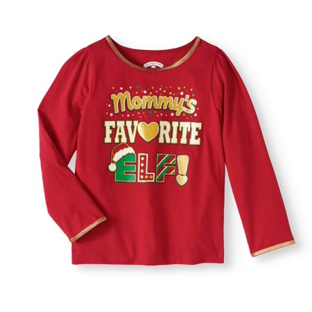 toddler girl christmas long sleeve holiday graphic tshirt walmartcom