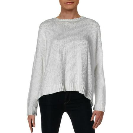 Eileen Fisher Womens Organic Cotton Open Back Crewneck Sweater White M ()