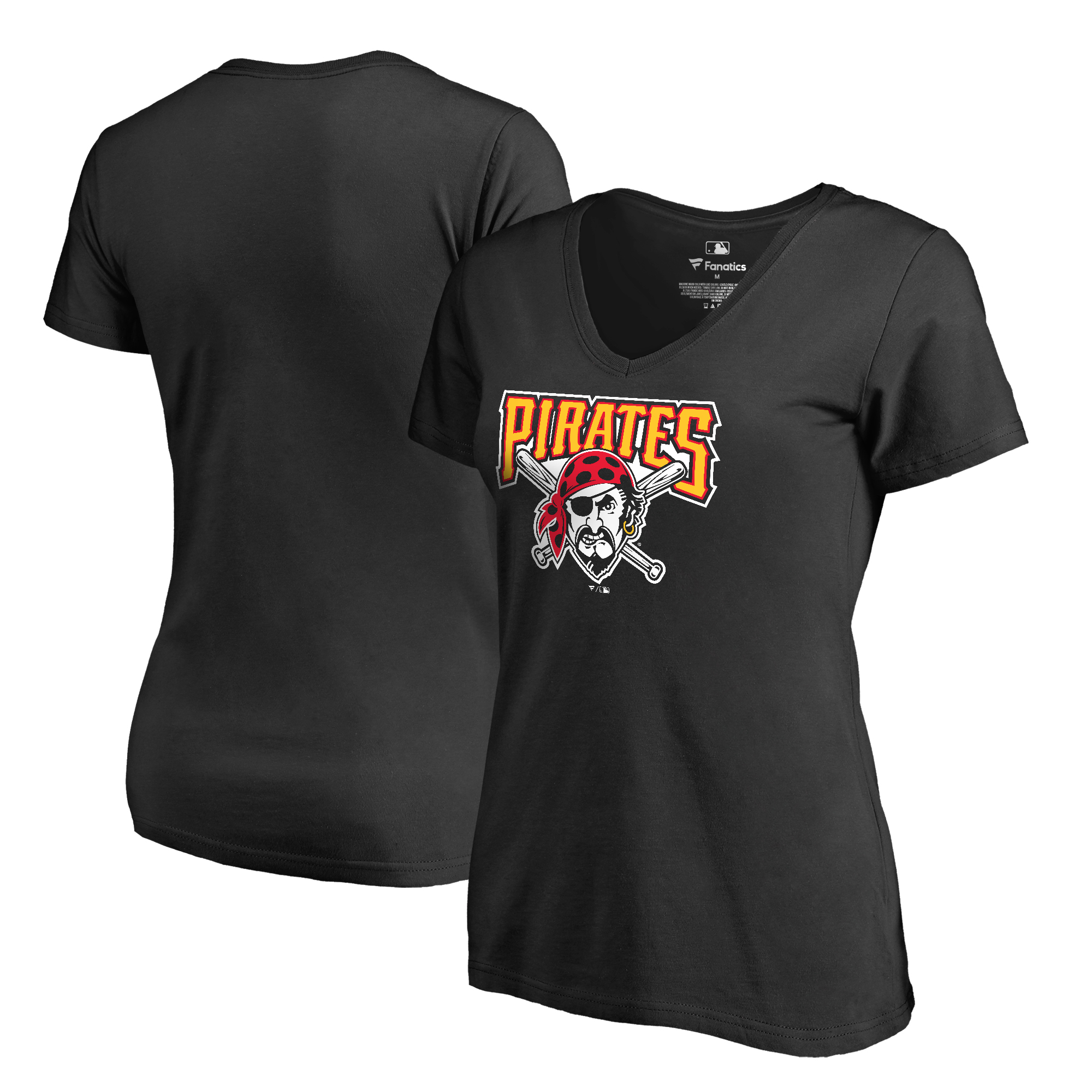 Pittsburgh Pirates Fanatics Branded Women's Cooperstown Collection Huntington T-Shirt - Black