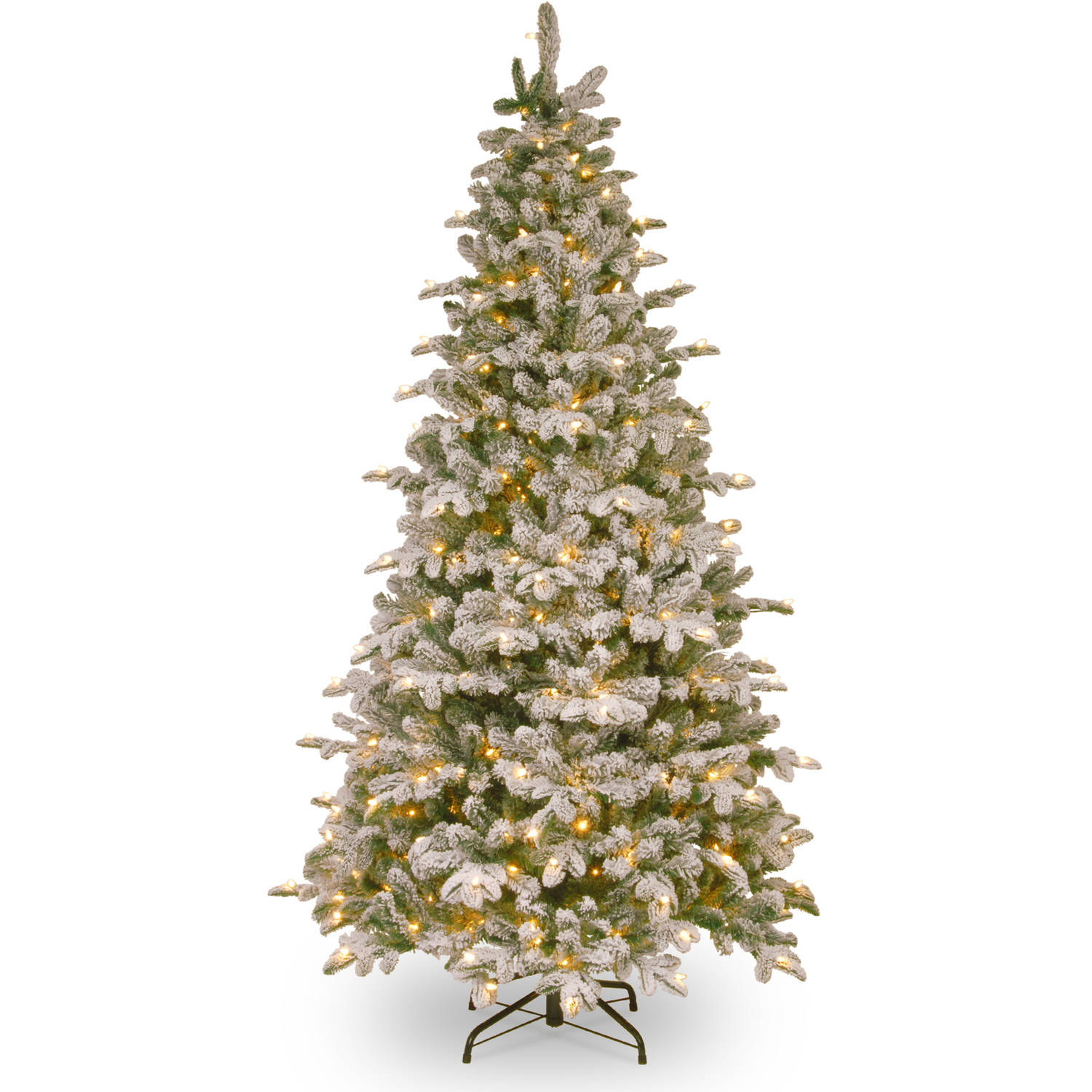 national tree pre lit 6 12 kingswood fir hinged pencil artificial christmas tree with 250 multi lights walmartcom - Pre Lit Christmas Trees