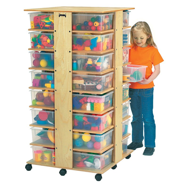 32 Cubbie Tower-Option:With Clear Tubs