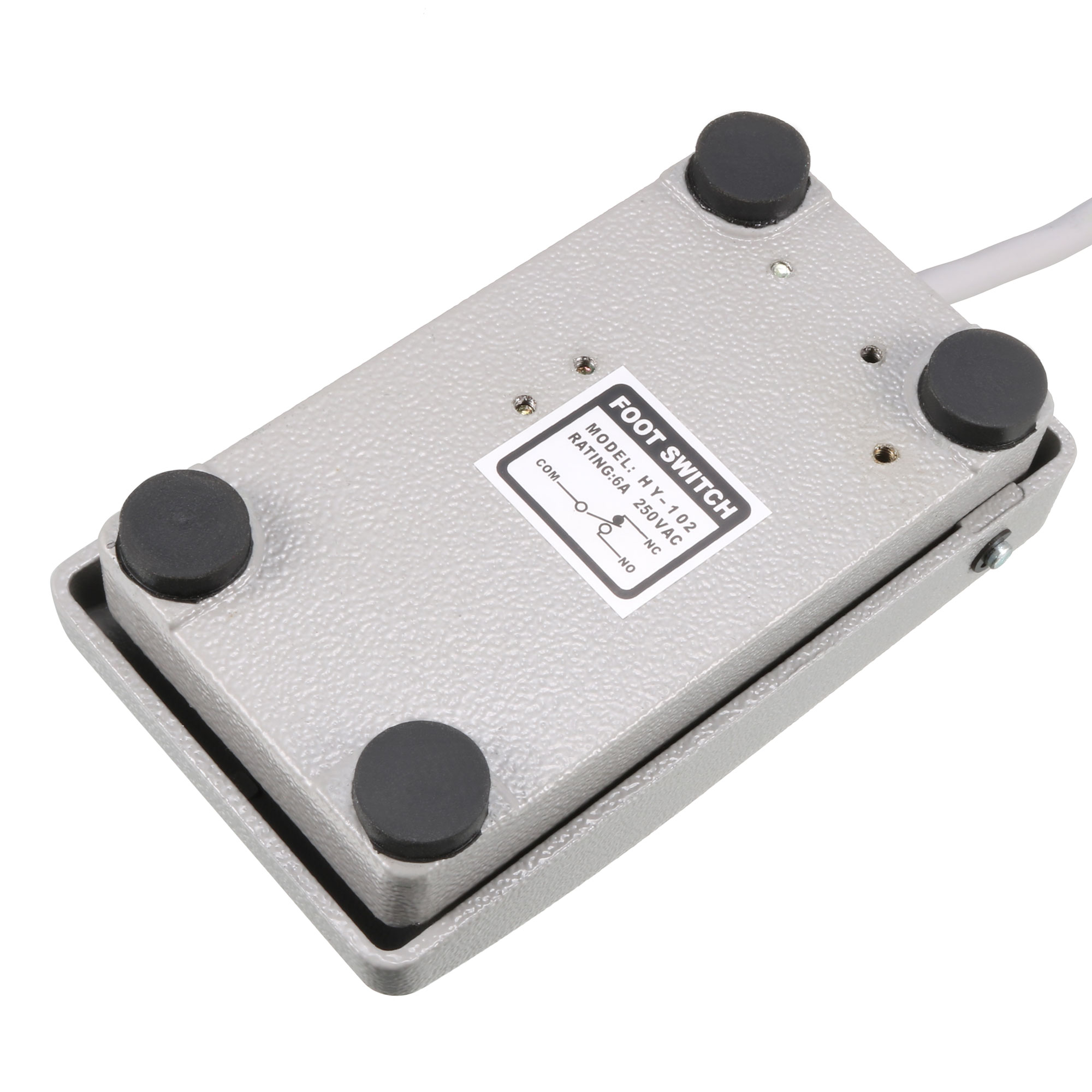 HY-102 SPDT NO NC Industrial Electric Momentary Power Foot Pedal Switch, Aluminum Case, 25CM Cable - image 1 de 4