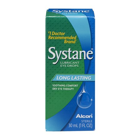 Alcon Systane Long Lasting Dry Eye Lubricant Artificial Tear Drops  1 Fl Oz