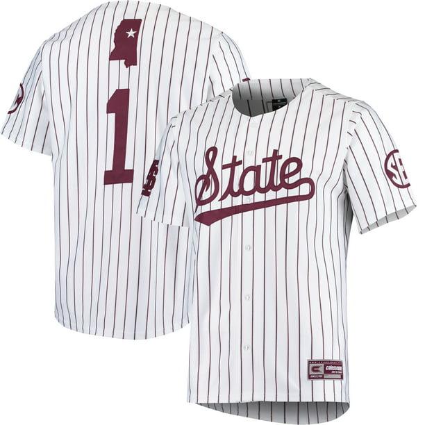 Mississippi State Bulldogs Colosseum Baseball Jersey - White ...