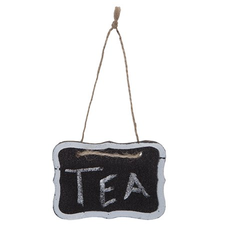 Mini Hanging Chalkboard Sign with White Border 4in - Personalized Chalkboard Sign