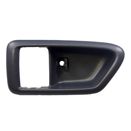 PT Auto Warehouse TO-2562G-2LH - Inner Interior Inside Door Handle Trim/Bezel, Gray - Driver Side Door Handle Gray Bezel