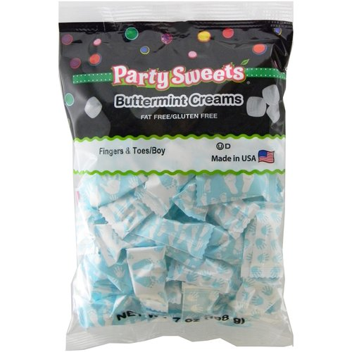 Party Sweets Fingers & Toes/Boy Buttermint Creams Candy, 7 oz