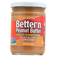 Better 'n Peanut Butter Peanut Butter - Original Flavor - pack of 6 - 16 Oz.