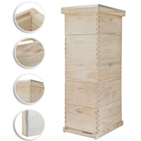 VEVOR 5-Frame Bee Hive 4 Super and 1 Brood Box Beehive Frames Langstroth Beehive Box