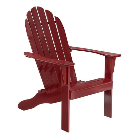 Mainstays Outdoor Wood Adirondack Chair, Red Now $69 (Was $119)