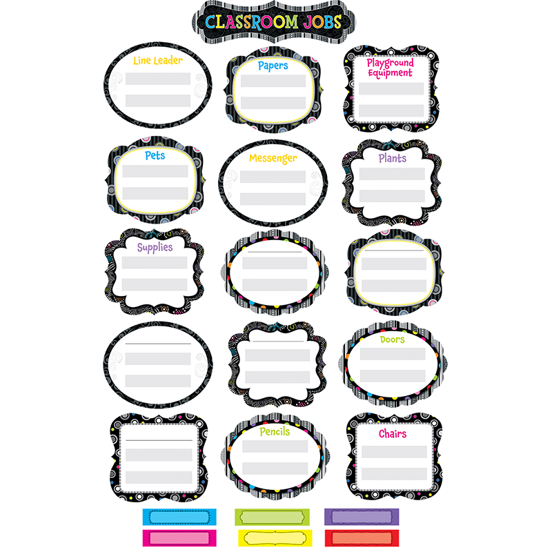 BLACK AND WHITE CLASSROOM JOBS MINI BB SETS