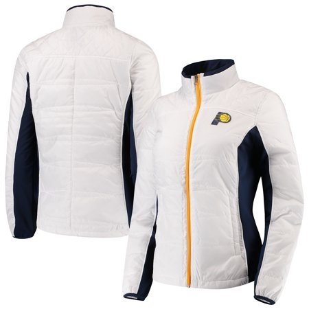 Grand Prix Jacket - Indiana Pacers G-III 4Her by Carl Banks Women's Grand Slam Full-Zip Jacket - White/Navy