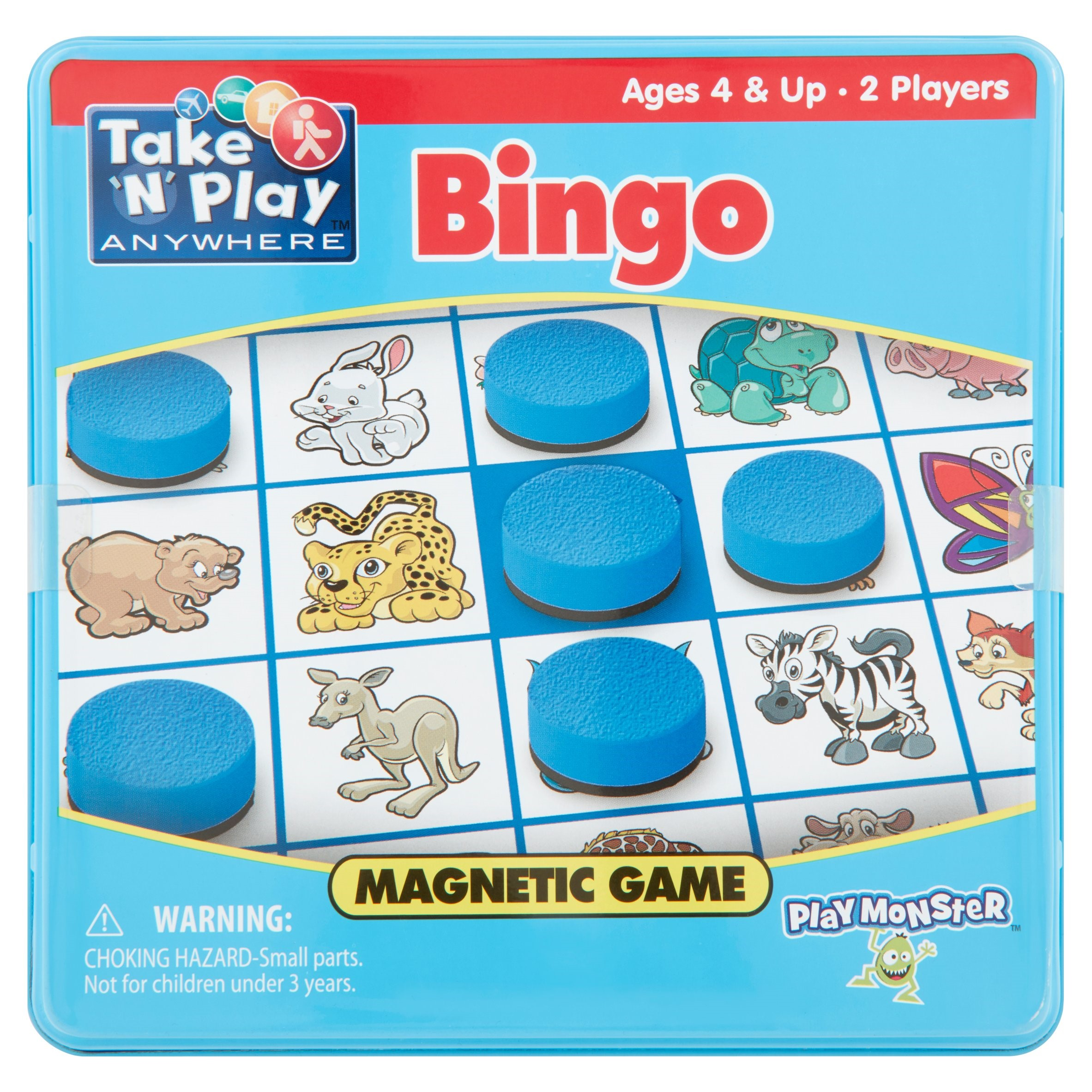 Play Monster Take 'N' Play Bingo Anywhere Magnetic Game Ages 4 & Up