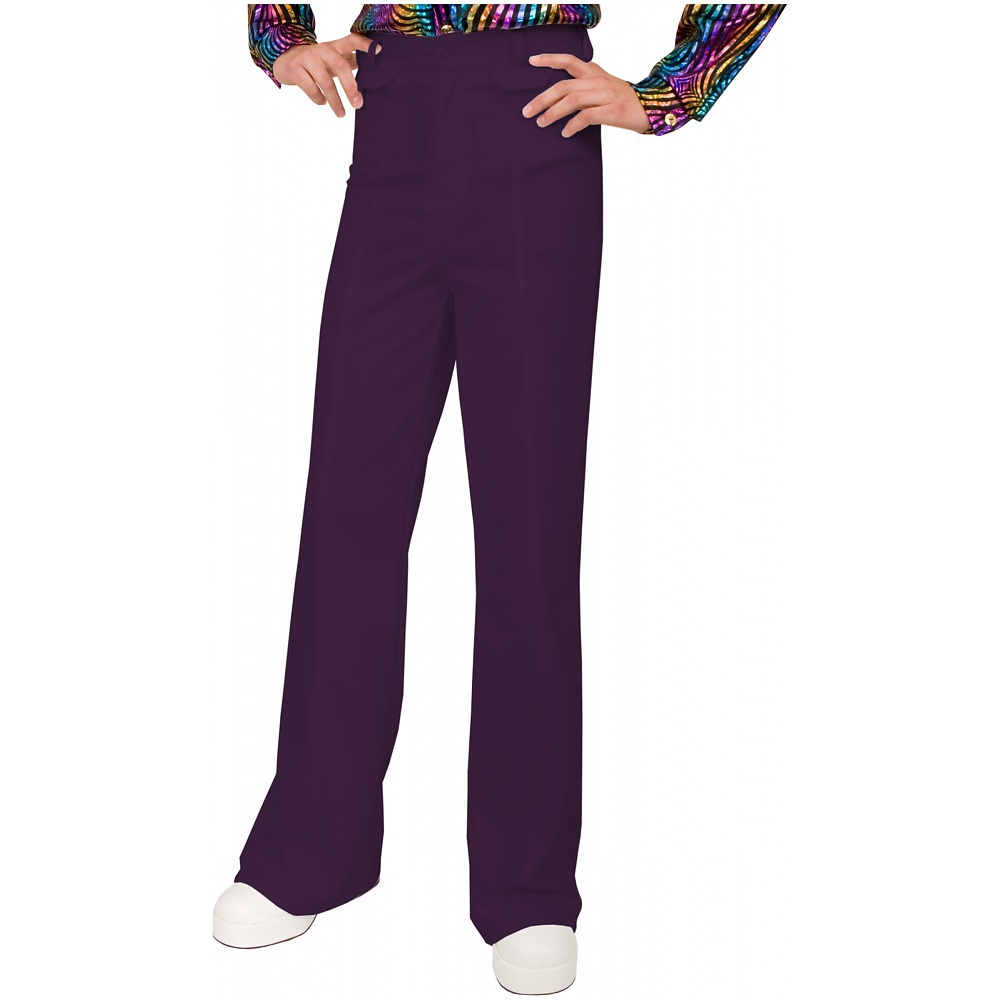 Disco Pants Adult Costume Purple - 40