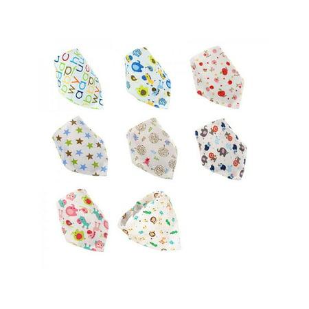 Lavaport Baby Buckle Cotton Bandana Drool Bibs Triangle (Towel Baby Bibs)