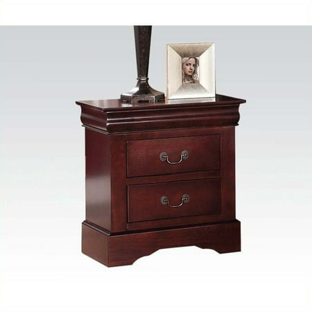ACME Furniture Louis Philippe III Nightstand in Cherry