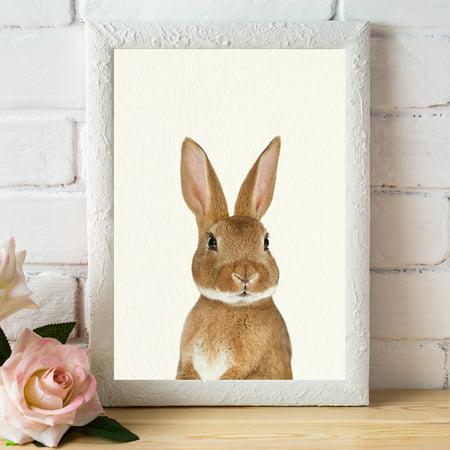Baby Woodland Bunny - Nursery Wall Décor Farm Baby Animal Art Print