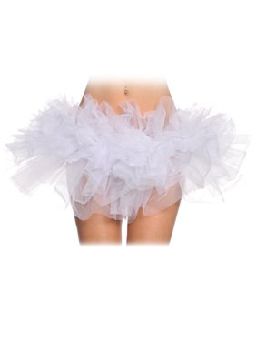 Leg Avenue Women's Organza Tutu, Black, One Size