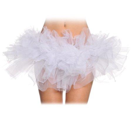Halloween Costumes With White Tutus (White Organza Tutu Adult -)