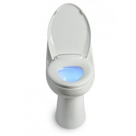 Brondell L60-EB LumaWarm Heated Nightlight Elongated Toilet Seat, Biscuit 96 Biscuit Toilet Tank