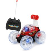 Click N' Play RC Remote Control High Performance Disco Tumbling King Stunt Car With Music And Flashing Lights. (Red)
