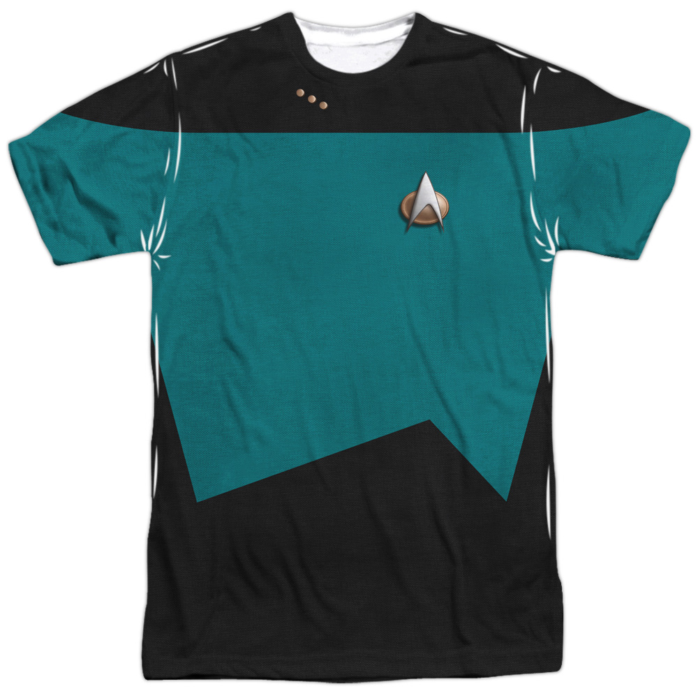 Star Trek Sci-Fi TV Series Retro Green&Black Uniform Adult 2-Sided Print T-Shirt