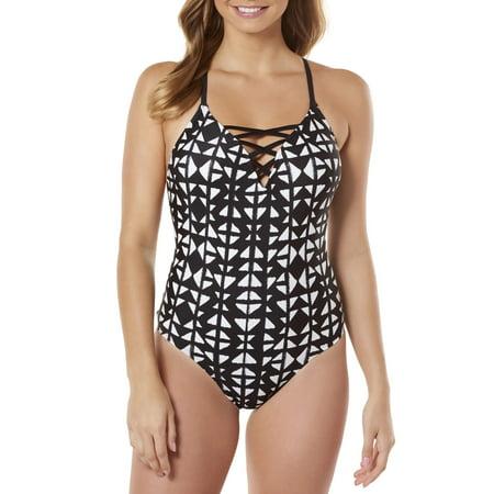 Lycra Strappy 4 Piece - Women's Moon Gaze Strappy One-Piece Swimsuit