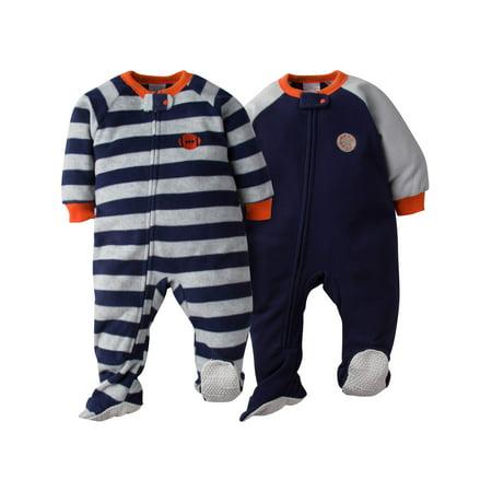 bfe69d770 Gerber - Gerber Microfleece Blanket Sleeper, 2pk (Baby Boys) - Walmart.com