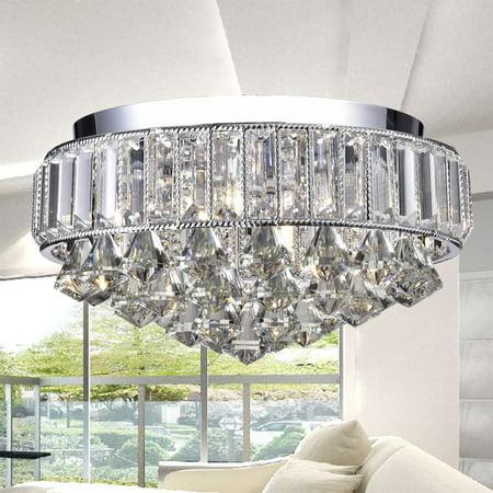 Hong Kong best New Zhu Yuan lighting Co. Anteros 4-Light Flush Mount - Chrome
