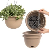 Garden Artist (4 Pack) 10 Inch Self Watering Planter Outdoor Indoor Hanging Planters Flower Pot With Drainage Hole