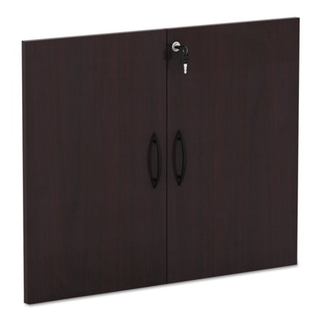 Mahogany Wood Finish Cabinet - Alera Valencia Series Cabinet Door Kit For All Bookcases, 31 1/4