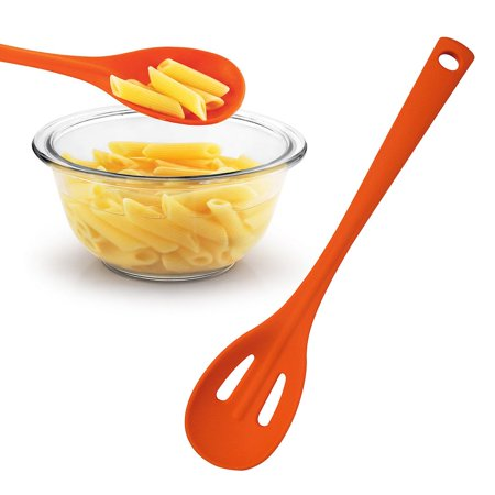 INNOKA Silicone Kitchen Folia Slotted Cooking Spoon - Orange